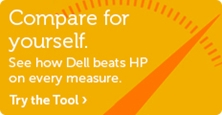 Compare for yourself. See how Dell beats HP on every measure. Try the tool.