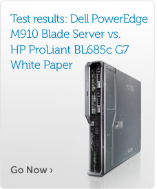 Key findings: Dell M910 Blade Server vs. HP ProLiant BL685c G7