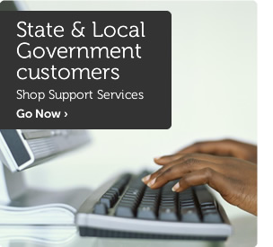State & Local Government customers shop server solutions